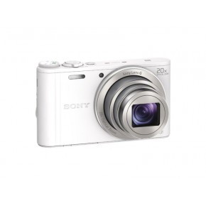 Sony Cyber-shot WX350 Compact Camera with 20x Optical Zoom, 32gb Card & Case - White