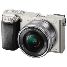 Sony a6000 E-series APS-C Mirrorless Interchangeable-lens Camera & 16-50 Lens - Silver