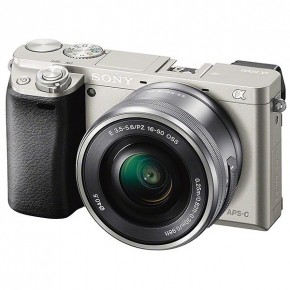 Sony a6000 E-series APS-C Mirrorless Interchangeable-lens Camera & 16-50 Lens - Silver