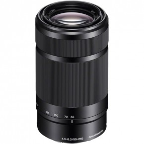 Sony E APSC 55-210mm f4.5-6.3 OSS Lens - Black