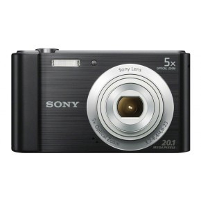 Sony Cyber-shot W800 Digital Camera, 16GB Card & Case - Black