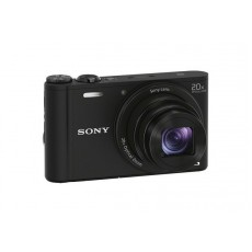 Sony Cyber-shot WX350 Compact Camera with 20x Optical Zoom, 32gb Card & Case - Black