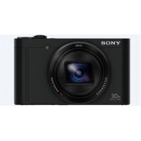 Sony Cyber-shot WX500 Digital Camera, 32GB Card & Case - Black