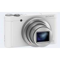 Sony Cyber-shot WX500 Digital Camera, 32GB Card & Case - White