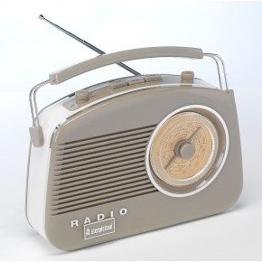 Steepletone Brighton FM Retro Radio - Mocha