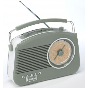 Steepletone Brighton FM Retro Radio - Sage Green