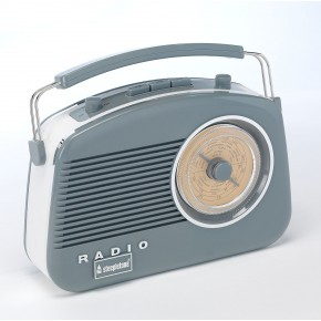 Steepletone Brighton FM Retro Radio - Grey