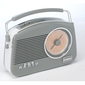 Steepletone Dorset DAB & FM Retro Radio - Grey