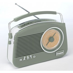 Steepletone Dorset DAB & FM Retro Radio - Sage Green