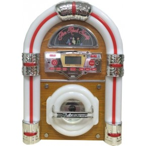 Steepletone Jive Rock Sixty Mini Jukebox - Light Wood