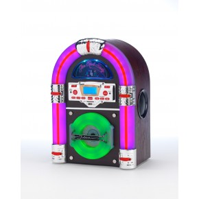 Steepletone Jive Rock Sixty Mini Jukebox - Dark Wood