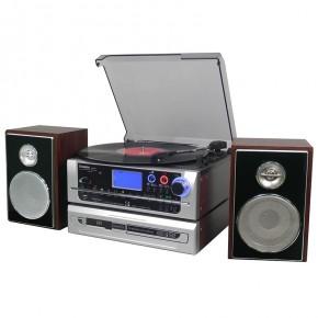 Steepletone Metro Multi-Function Music System - Dark Wood