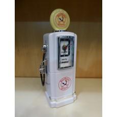 Steepletone Petrol Pump Analogue Alarm Clock & Radio - White