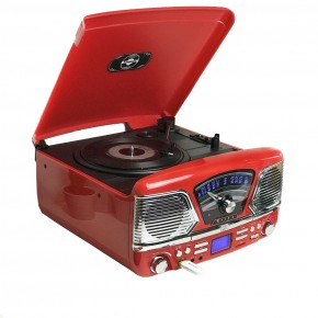 Steepletone Roxy 4 4in1 Music Centre - Red
