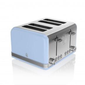 Swan Retro 4 Slice Toaster - Blue