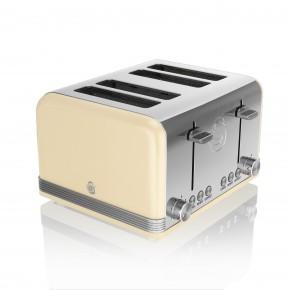Swan Retro 4 Slice Toaster - Cream