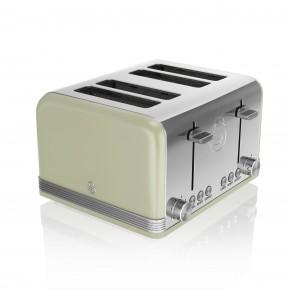 Swan Retro 4 Slice Toaster - Green