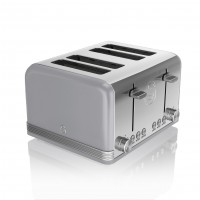 Swan Retro 4 Slice Toaster - Grey