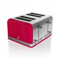 Swan Retro 4 Slice Toaster - Red