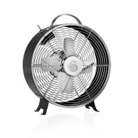 "Swan Retro 8"" Clock Fan - Black"