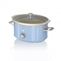 Swan Retro 3.5L Slow Cooker - Blue