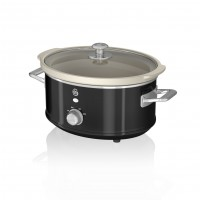 Swan Retro 3.5L Slow Cooker - Black