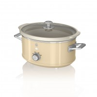 Swan Retro 3.5L Slow Cooker - Cream