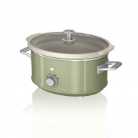 Swan Retro 3.5L Slow Cooker - Green