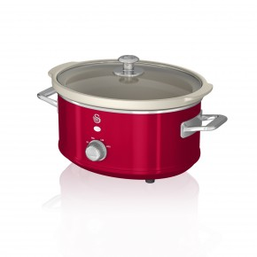 Swan Retro 3.5L Slow Cooker - Red