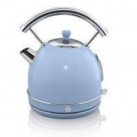 Swan Retro 1.8L Dome Kettle - Blue