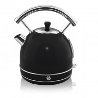 Swan Retro 1.8L Dome Kettle - Black