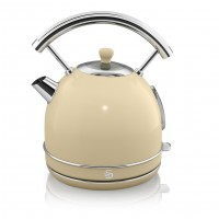 Swan Retro 1.8L Dome Kettle - Cream