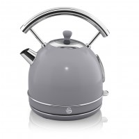 Swan Retro 1.8L Dome Kettle - Grey