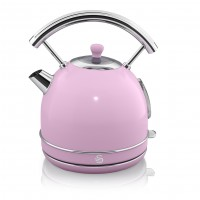 Swan Retro 1.8L Dome Kettle - Pink