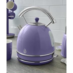 Swan Retro 1.8L Dome Kettle - Purple