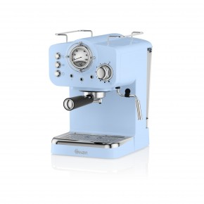 Swan Retro Pump Espresso Coffee Machine - Blue
