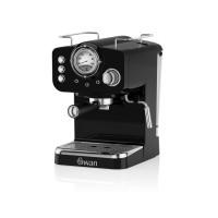 Swan Retro Pump Espresso Coffee Machine - Black