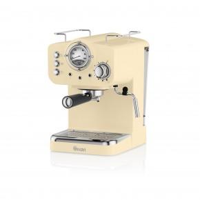 Swan Retro Pump Espresso Coffee Machine - Cream