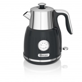 Swan Retro 1.5L Jug Kettle - Black