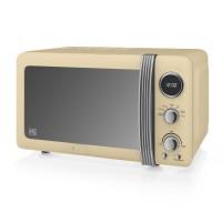 Swan Retro 800W Digital Microwave - Cream