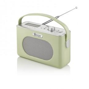 Swan Retro Bluetooth, DAB/FM Radio - Green