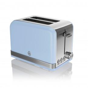 Swan Retro 2 Slice Toaster - Blue