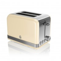 Swan Retro 2 Slice Toaster - Cream