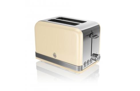 Swan Retro 2 Slice Toaster - Cream