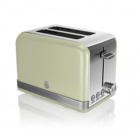 Swan Retro 2 Slice Toaster - Green