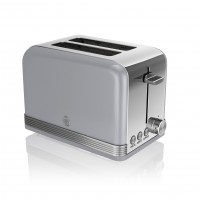 Swan Retro 2 Slice Toaster - Grey