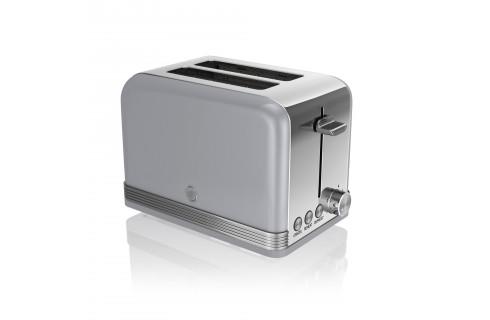 Swan Retro 2 Slice Toaster - Grey