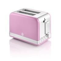 Swan Retro 2 Slice Toaster - Pink
