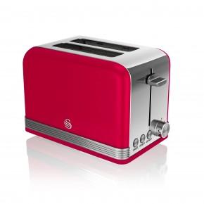 Swan Retro 2 Slice Toaster - Red