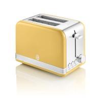 Swan Retro 2 Slice Toaster - Yellow